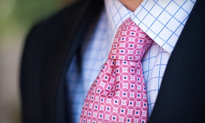 The Custom Suit Shop - Peachtree Park: Custom-Made Shirts, Suits, and Ties at The Custom Suit Shop (Up to 58% Off). Four Options Available.