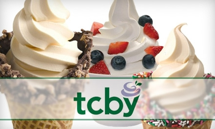TCBY - Multiple Locations: $5 for $10 Worth of Soft-Serve Yogurt, Smoothies, Cakes, and More at TCBY