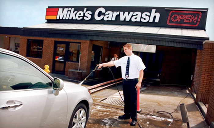Mike's Carwash - Multiple Locations: $21 for Three The Works Car-Wash Packages at Mike's Car Wash ($45 Value)