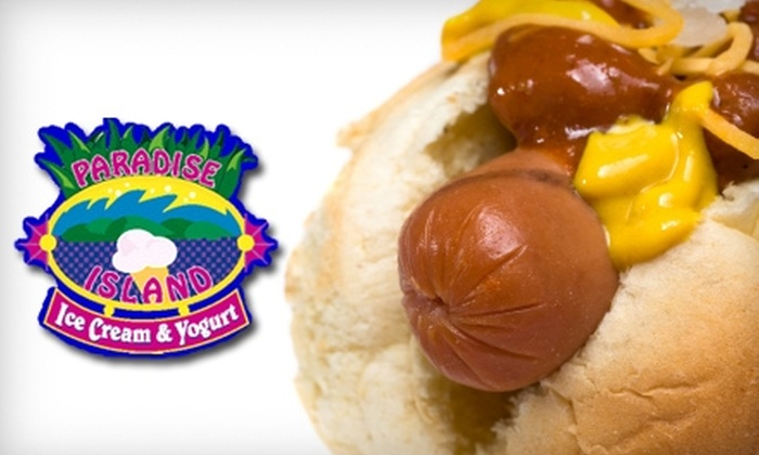 Paradise Island - Appleton: $4 for $8 Worth of Sandwiches, Pizza, Frozen Treats, and More at Paradise Island