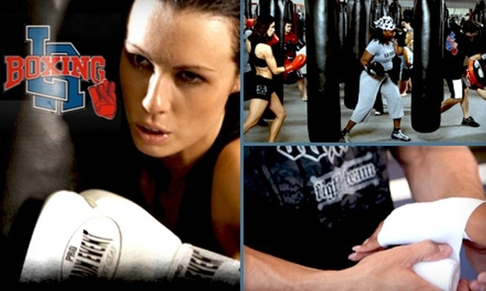 LA Boxing - Multiple Locations: $49 for a One-Month Membership Including Necessary Gear at LA Boxing ($104 Value)