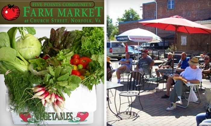 Five Points Community Farm Market - Lindenwood: $10 for $20 Worth of Fresh and Local Produce at Five Points Community Farm Market