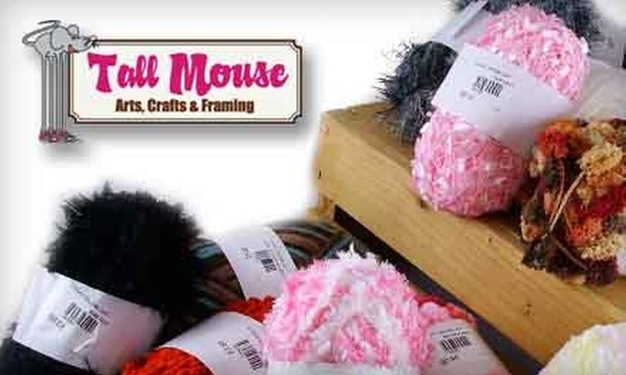Tall Mouse - Multiple Locations: $25 for 15 Skeins of Fancy Yarn at Tall Mouse (up to $65 Value)