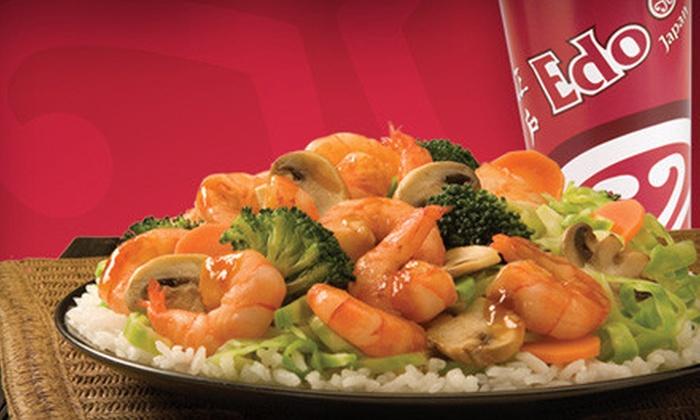 Edo Japan Westbank - Westbank: Teriyaki or Sushi Dinner for Two at Edo Japan Westbank (Up to 56% Off)