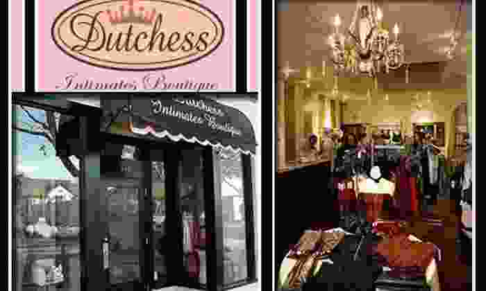 Dutchess Intimates Boutique - Campbell: $30 for $60 Worth of Lingerie and More at Dutchess Intimates Boutique in Campbell