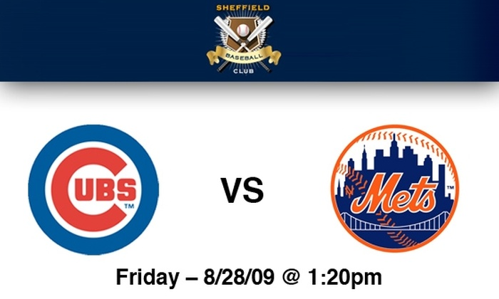 Sheffield Baseball Club - Chicago: Rooftop Tickets to Cubs vs Mets on 8/28 at 1:20 pm at Sheffield Rooftop: More Dates Available Below