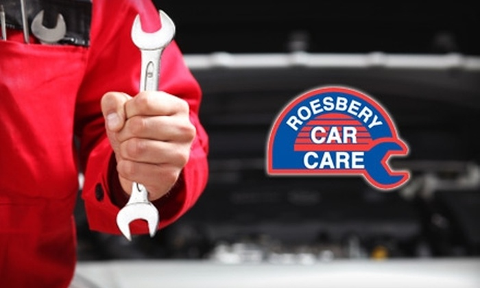 Roesbery Car Care - Multiple Locations: $18 for Premium Oil Change, Tire Rotation, and Maintenance Inspection at Roesbery Car Care ($128 Value)