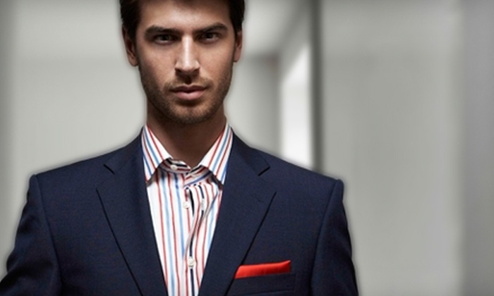 Q Custom Clothier - Oak Lawn: $650 for One Custom Suit and Two Custom Shirts at Q Custom Clothier ($1,475 Value)