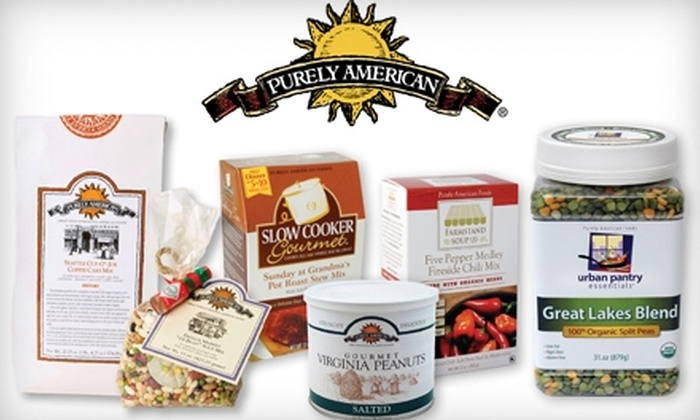 Purely American: $15 for $30 Worth of Soups, Mixes, Peanuts and Sauces from Purely American