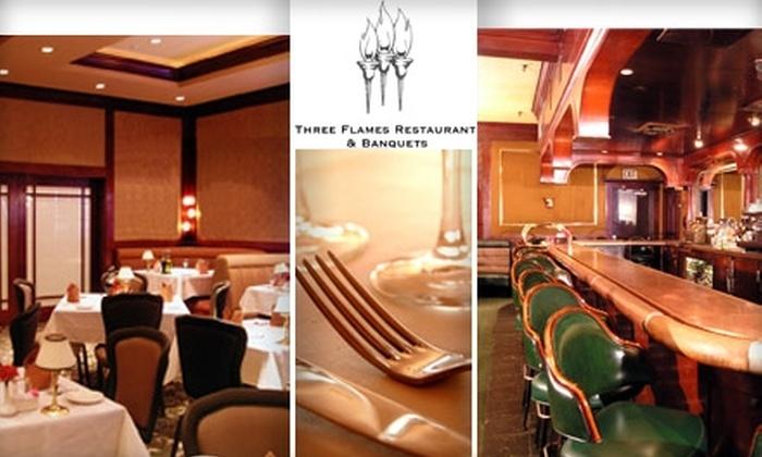 Three Flames Restaurant - San Jose: $20 for $40 Worth of Elegant Dining at Three Flames