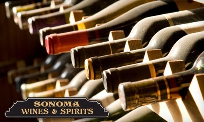 Sonoma Wine & Spirits - Glastonbury: $25 for a Premium Wine Tasting & Class with Sonoma Wines & Spirits, Glastonbury ($50 Value)