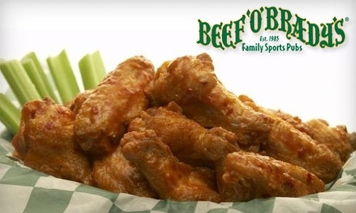 Beef 'O' Brady's - Northeast Arcadia Lakes: $10 for $20 Worth of American Casual Fare at Beef 'O' Brady's