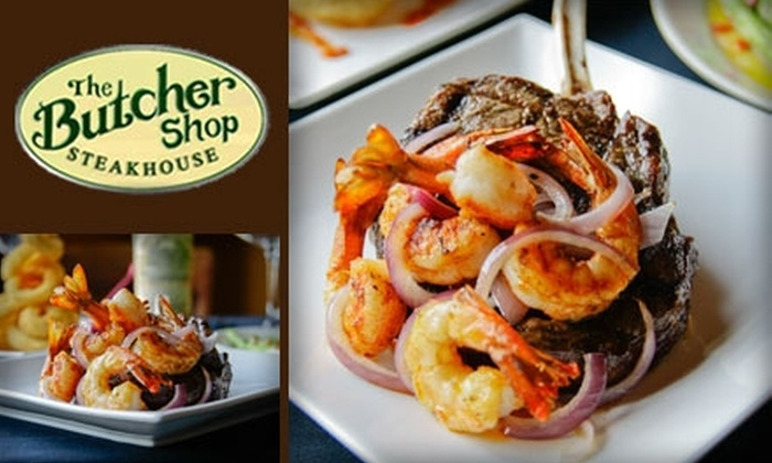 The Butcher Shop Steakhouse - Downtown Dallas: $20 for $50 Worth of Finely Grilled Fare at The Butcher Shop