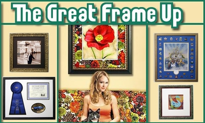 The Great Frame Up - Huntersville: $45 for $100 Worth of Custom Framing at The Great Frame Up