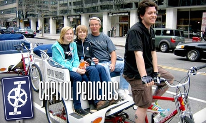 Capitol Pedicabs - Washington DC: $30 for a One-Hour Tour/Ride from Capitol Pedicabs