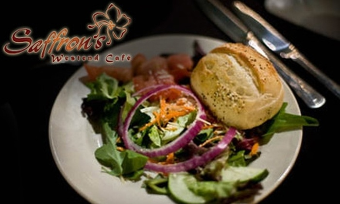 Saffron's West End Café - West End: $10 for $20 Worth of Upscale Fare and Drinks at Saffron's West End Café