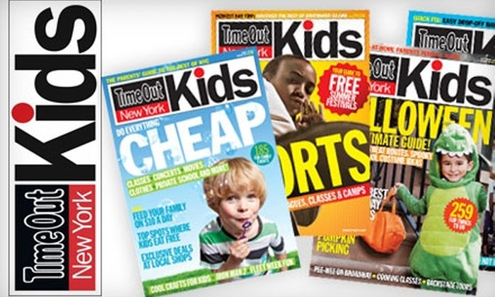 "<i>Time Out New York Kids</i> - Multiple Locations: $10 for a Two-Year Subscription to ""Time Out New York Kids"" ($20 Value)"