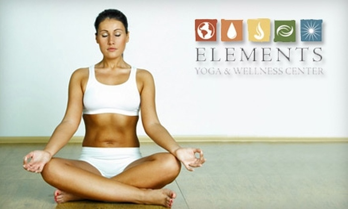 Elements Yoga & Wellness Center - Darien: $30 for One Month of Unlimited Yoga Classes at Elements Yoga & Wellness Center in Darien ($195 Value)