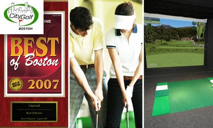 City Golf Boston - Downtown: Improve Your Golf Game with Video Analysis and Feedback from PGA-Certified Pros for $50
