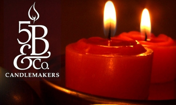 5B & Co. Candlemakers - Multiple Locations: $16 for 12 Handmade Votive Candles ($33 Value) at 5B & Co. Candlemakers