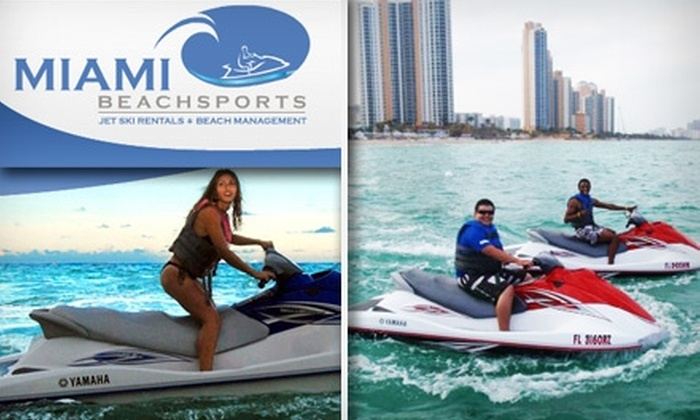 Miami BeachSports - Oceanfront: $79 for One-Hour WaveRunner Rental and Two Chair Rentals at Miami Beachsports