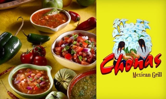 Chonas Mexican Grill - Lawrenceville: $15 for $30 Worth of Mexican Cuisine at Chonas Mexican Grill in Lawrenceville