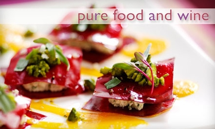 Pure Food and Wine - Gramercy Park: $10 for $20 Worth of Lunch Fare at Pure Food and Wine (or $20 for $40 Worth of Dinner Fare) Plus 15% Off Online Retail Purchase at OneLuckyDuck.com