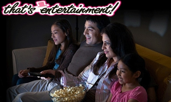 That's Entertainment - Lakeport: $15 for Four Video Game or Movie Rentals, Popcorn, and a Two-Litre Soda from That's Entertainment (Up to a $34 Value)