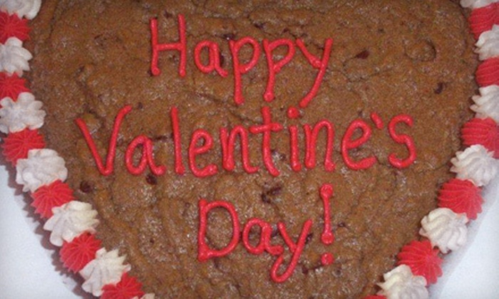 Pink Cookie Box - Shallowater: $14 for a 9-Inch Valentine's Day Cookie Cake at Pink Cookie Box ($28 Value)