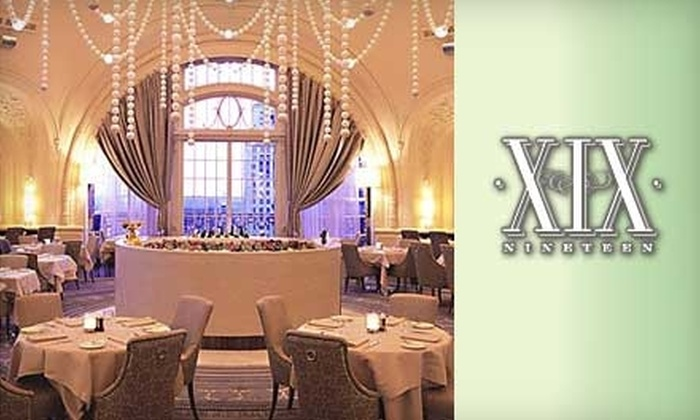 XIX: Nineteen - Logan Square: $17 for $35 Worth of New American Fare at XIX: Nineteen in Hyatt at The Bellevue
