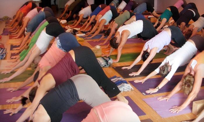 Jivamukti Yoga Charleston - Mount Pleasant: 12 Yoga Classes or Unlimited Summer Yoga Classes at Jivamukti Yoga Charleston in Mount Pleasant (Up to 66% Off)