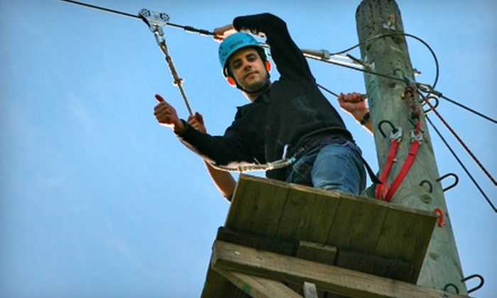 Heron Lake Challenge - Napa: $25 for a Ropes Challenge Course at Heron Lake Challenge ($50 Value). Nine Dates Available.