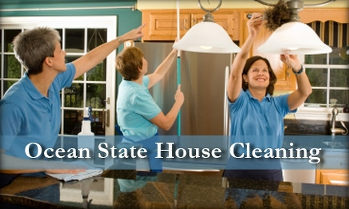 Ocean State House Cleaning - Near North Side: $60 for Three Hours Worth of Basic House Cleaning Services from Ocean State House Cleaning ($120 Value)