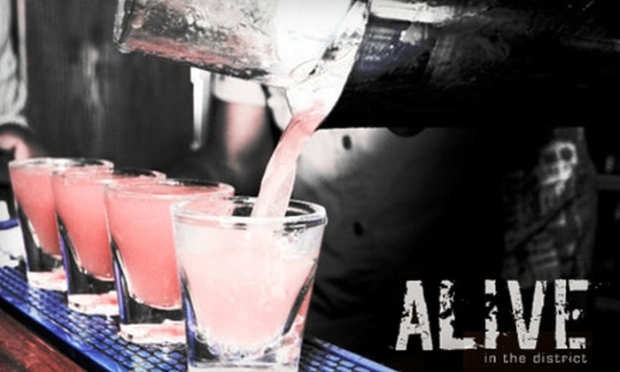 Alive in the District - Downtown Winnipeg: $10 for Two Domestic Drinks and an Appetizer at Alive in the District (Up to $21 Value)