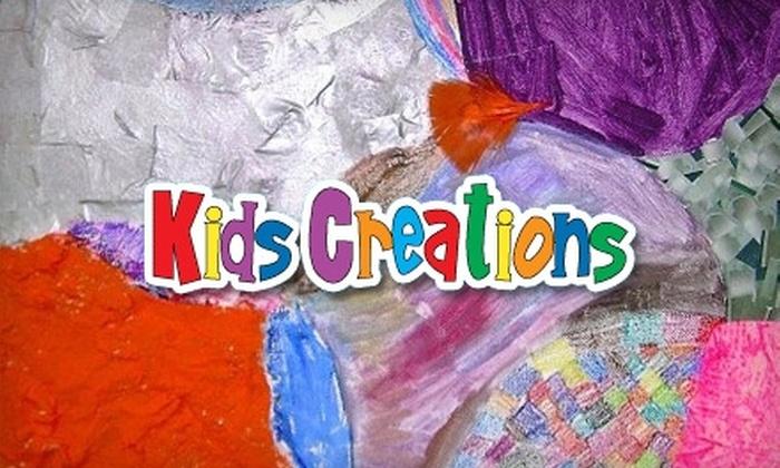 Kids Creations Art Studio - Cambridge: $12 for One Children's Drop-Off Art Night at Kids Creations Art Studio