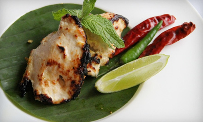 Tawa - Stamford: Upscale Indian Kebab Meal with Wine for Two or Four at Tawa in Stamford (Up to 59% Off)