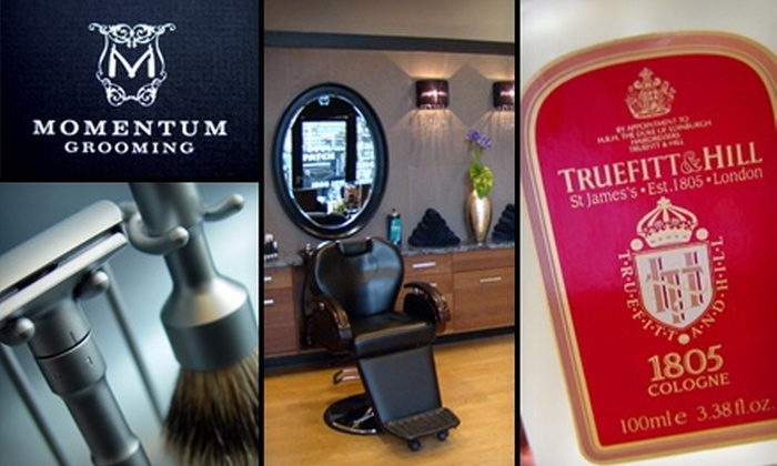 Momentum Grooming - Downtown Vancouver: $39 for a Haircut and Straight-Razor Shave Plus 10% Off Products at Momentum Grooming ($85 Value)