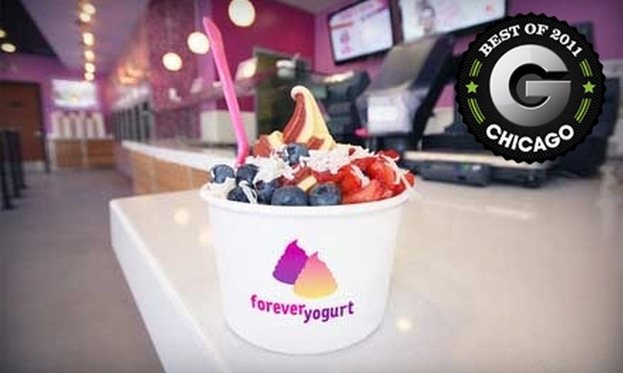 Forever Yogurt - Wicker Park: $10 for $20 Worth of Frozen Treats and Hot Chocolate Bar Access at Forever Yogurt in Wicker Park