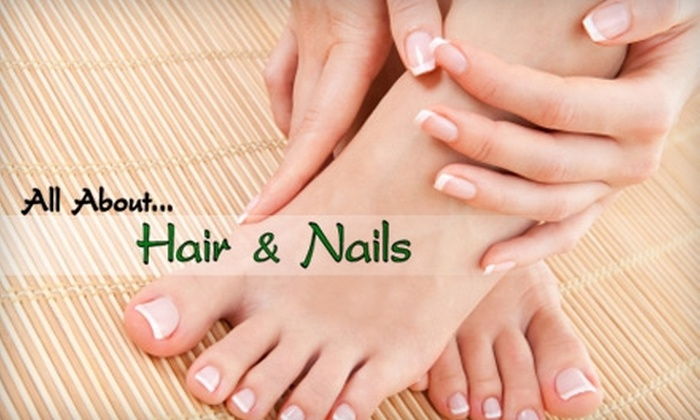 All About Hair & Nails - Wake Forest: $35 for a Luxurious Mani-Pedi at All About Hair & Nails in Wake Forest