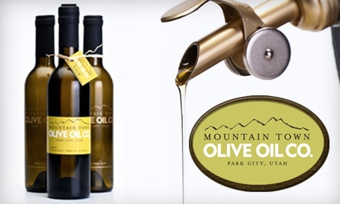 Mountain Town Olive Oil - Park City: $10 for $20 Worth of Olive Oils and Vinegars at Mountain Town Olive Oil