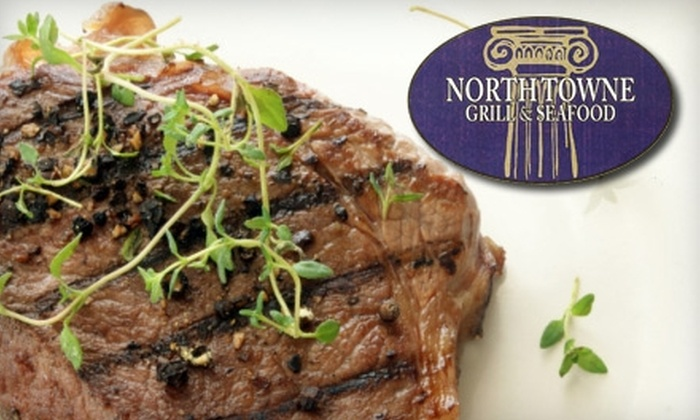 North Towne Grill and Seafood - North Charleston: $12 for $25 Toward Greek Dinner Fare and Drinks at North Towne Grill and Seafood (or $7 for $15 Toward Lunch)