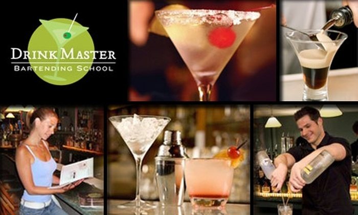 Drinkmaster Bartending School - Framingham: $30 for a Mixology 101 Course at DrinkMaster Bartending School ($75 Value)