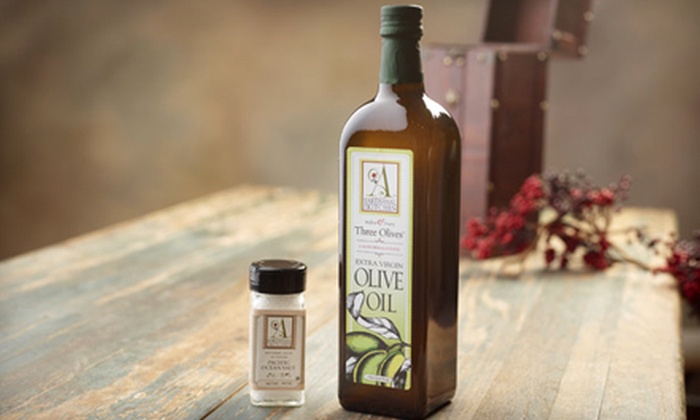 The Artisanal Kitchen: $29 for Gift Box including One Liter of Extra-Virgin Olive Oil and Sea Salt from The Artisanal Kitchen ($75 Value). Shipping Included.