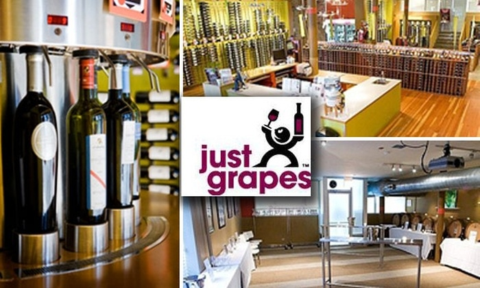 Just Grapes - West Loop: $50 Worth of Wine Tasting for $25 at Just Grapes