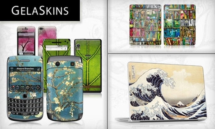 GelaSkins: $15 for $30 Worth of Customizable Skins for Smart Phones, iPhones, iPods, Laptops, eReaders, and More from GelaSkins