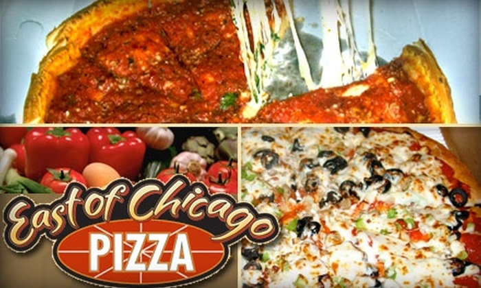 East of Chicago Pizza Co. - Northgate: $6 for $15 Worth of Windy City Fare at East of Chicago Pizza