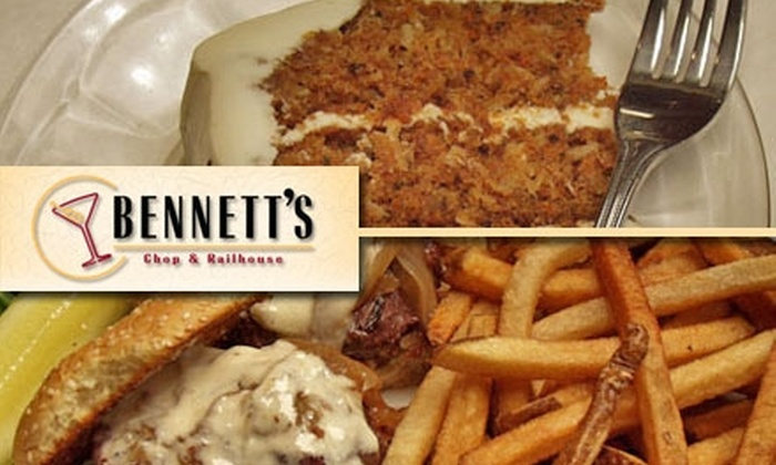 Bennett's Chophouse and Railhouse - West Seventh: $25 for $50 Worth of Sips and Savories at Bennett's