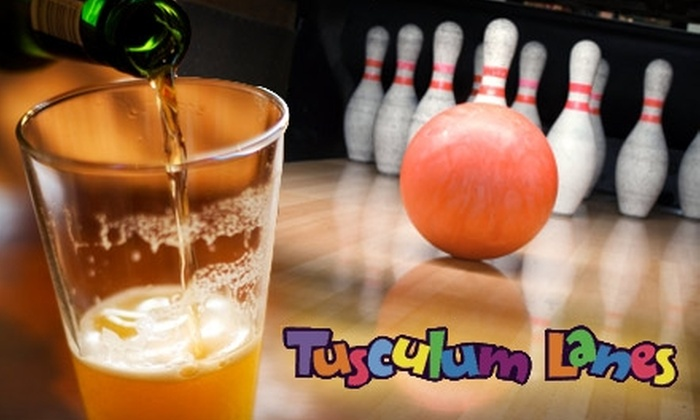 Tusculum Lanes - Woodycrest: $35 for Two Hours of Bowling, Plus Pizza, Drinks, and Arcade Tokens, at Tusculum Lanes