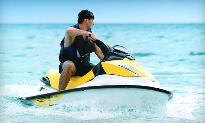 On the Beach Watersport - Fairfield: $64 for Wave Runner and Cabana Rental with Two Lounge Chairs from On the Beach Watersport in Pompano Beach ($130 Value)