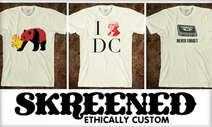 Skreened - Washington DC: $15 for $30 Worth of Online, Custom-Designed Clothing at Skreened